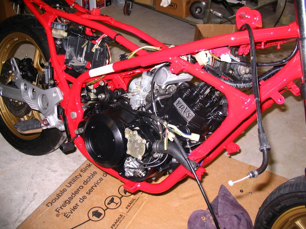 Yamaha RZ350 restoration- part 10- the motor